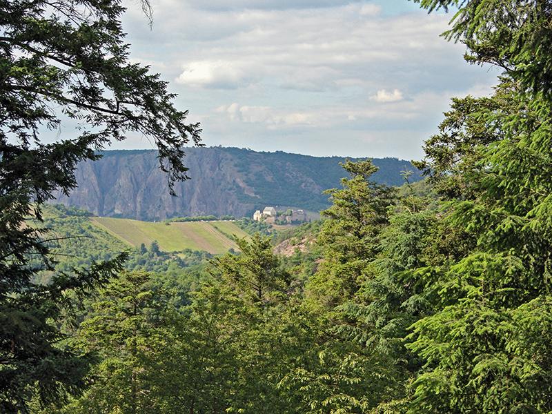 Fernblick auf Ebernburg und Rotenstein